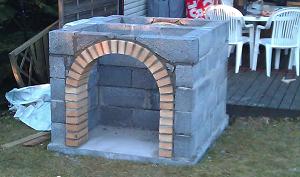 Вид на смонтированную арку с обратной стороны