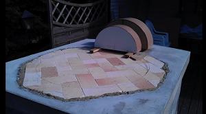 Вид сзади на макеты внешнего и внутреннего входов печи