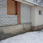 стена со стороны веранды