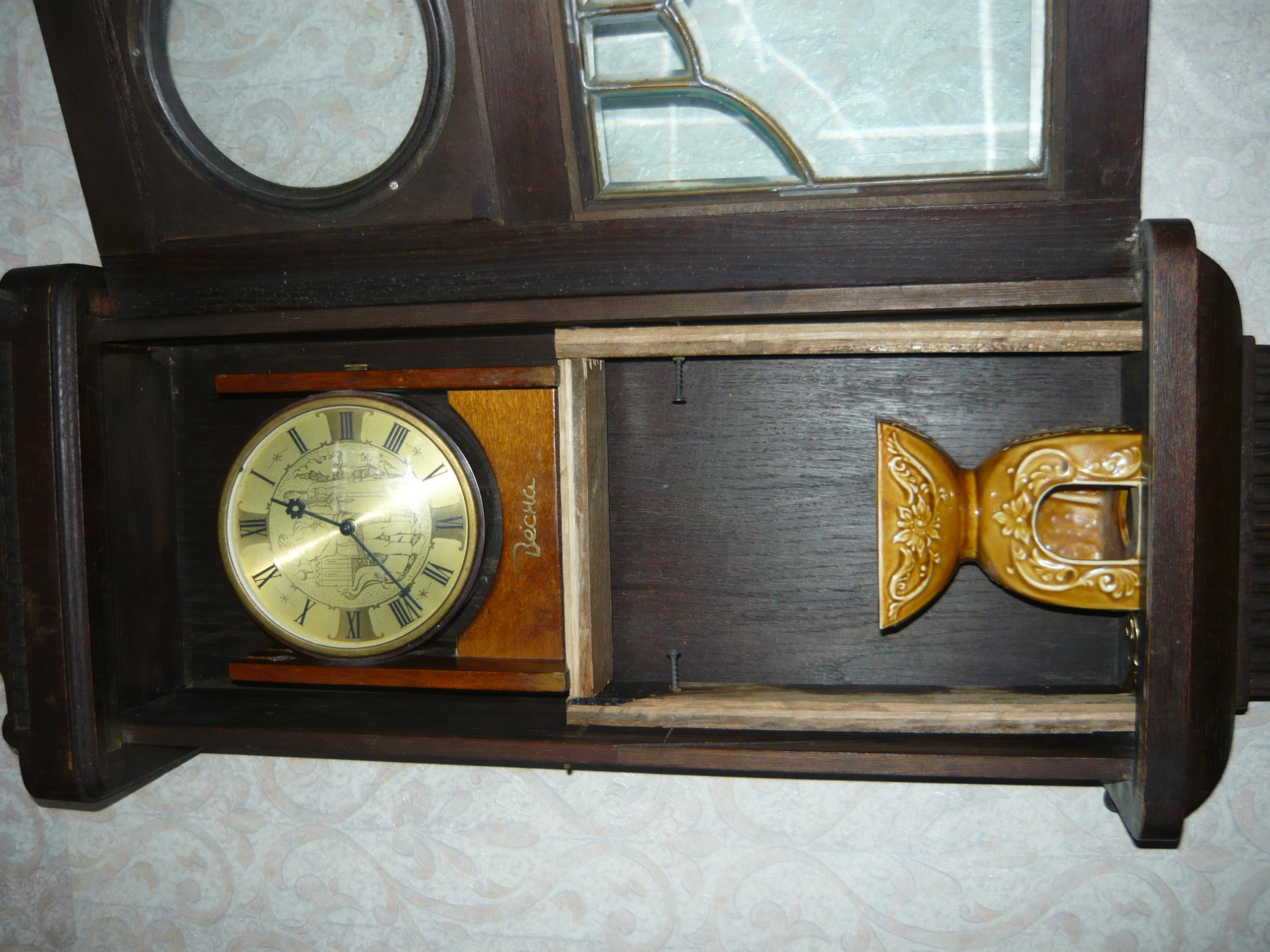 Настенные часы старинные своими руками 77