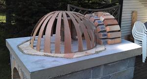 Вид на смонтированный макет полусферы круглой печи