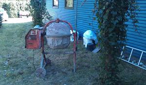 Бетономешалка для приготовления бетонного раствора