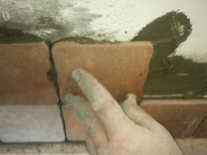 Вид на установку плитки
