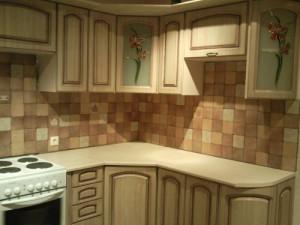 Комплект кухонной мебели с угловой тумбой под мойку