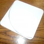Размеченный кусок пластмассы