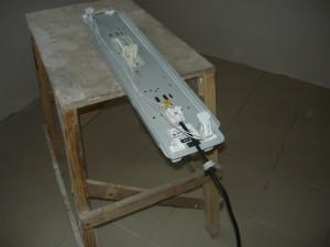 Монтаж провода к светильнику