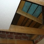 Вид на разборку потолка