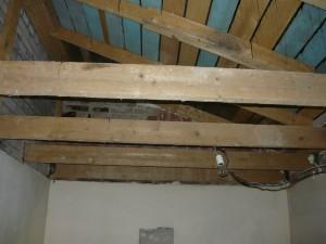 Вид на чердачное помещение после полной разборки потолка