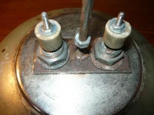 Вид на смонтированный нагревательный элемент снаружи