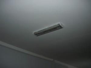 Светильник на потолке из гипсокартона