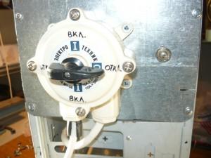 Монтаж трёхфазного выключателя и регулировочного сопративления