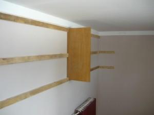 Вставка стенки в центр шкафа