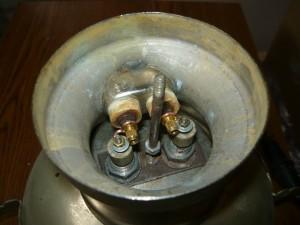 Вид на соединение нагревательного элемента и розетки