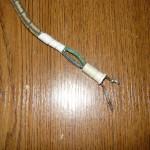 Вид на облуженные провода