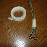 Вид на полностью подготовленные провода