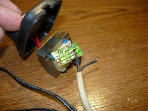 Обрыв провода в месте пайки