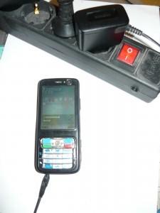 Вид заряжаемого телефона