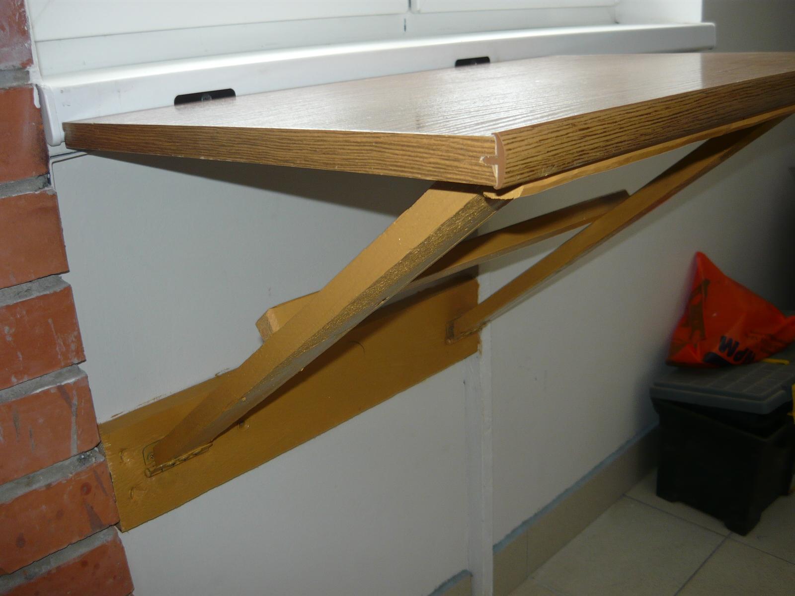 Сделать откидной столик на балконе своими руками.