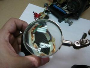 Осмотр статора шагового двигателя