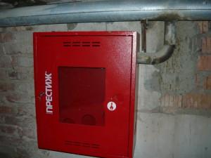 Подключение пожарного ящика в подвале