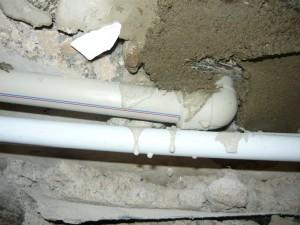 Ввод труб в помещение из подвала