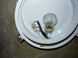 подсоединение через колодку второго светильника