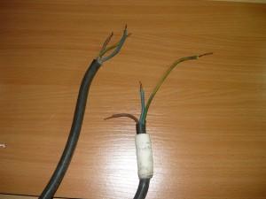 Приготовленные концы проводов