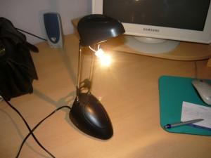 Проверка работы галогенной лампы