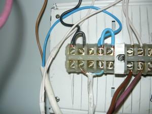 Разводка проводов на колодке