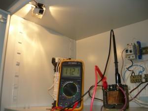 Работа трансформатора при нагрузке 20 Вт