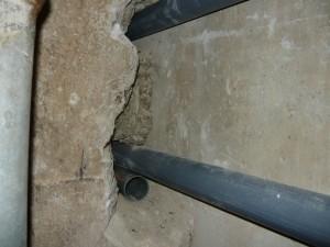 Прохождение стыка между бетонными блоками