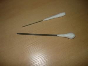 Готовые ручки на напильнике и надфиле