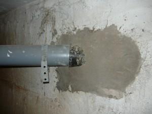 Проход бетонного блока