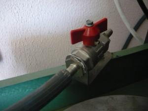 Кран подачи воды на станке