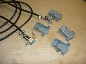 Разборка старого нуль кабеля RS - 232