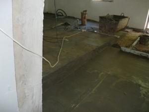 Вид на угол наклона плоскости коридора относительно всего помещения