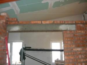 Строительство дверного проема для двухстворчатой двери