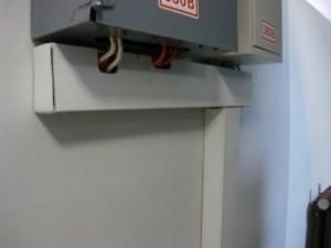 Смонтированный кабель-канал для счетчика