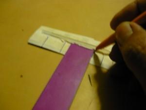 Восстановление рисок при помощи ручки и линейки