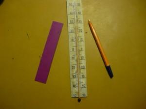 Восстановленная шкала термометра