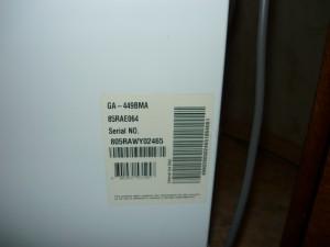 Исходные данные холодильника LG