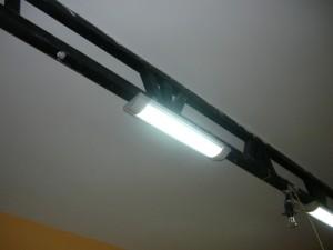 Включение светильников на ферме после их монтажа