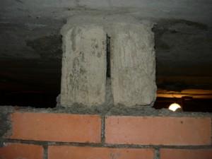 Вид на бетонные балки с торца
