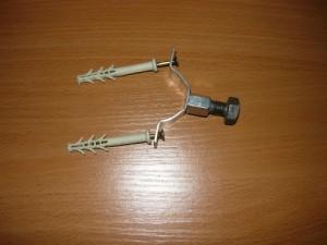 Скомплектованная и подготовленная конструкция узла крепления заземления