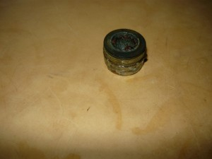 Открученный наконечник с  фильтром от крана