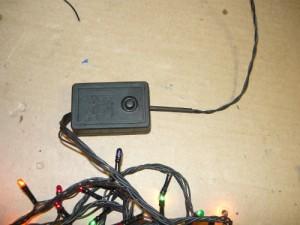 Вид на кнопку пульта управления гирляндой
