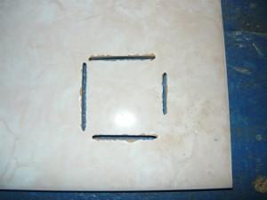 Вид с лицевой стороны плитки