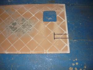 Разметка узкого отверстия в форме прямоугольника