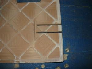 Разрезание плитки для узкого отверстия