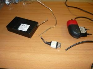 Обрезанные блок питания и зарядное устройство